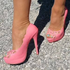 Chaussure Pin-UP rose bonbon