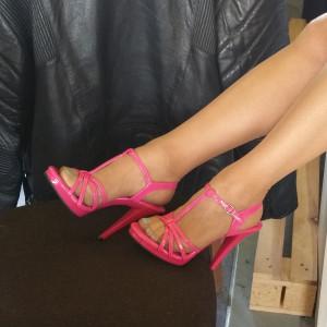sandale fuschia