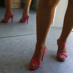 Sandale rose a talon