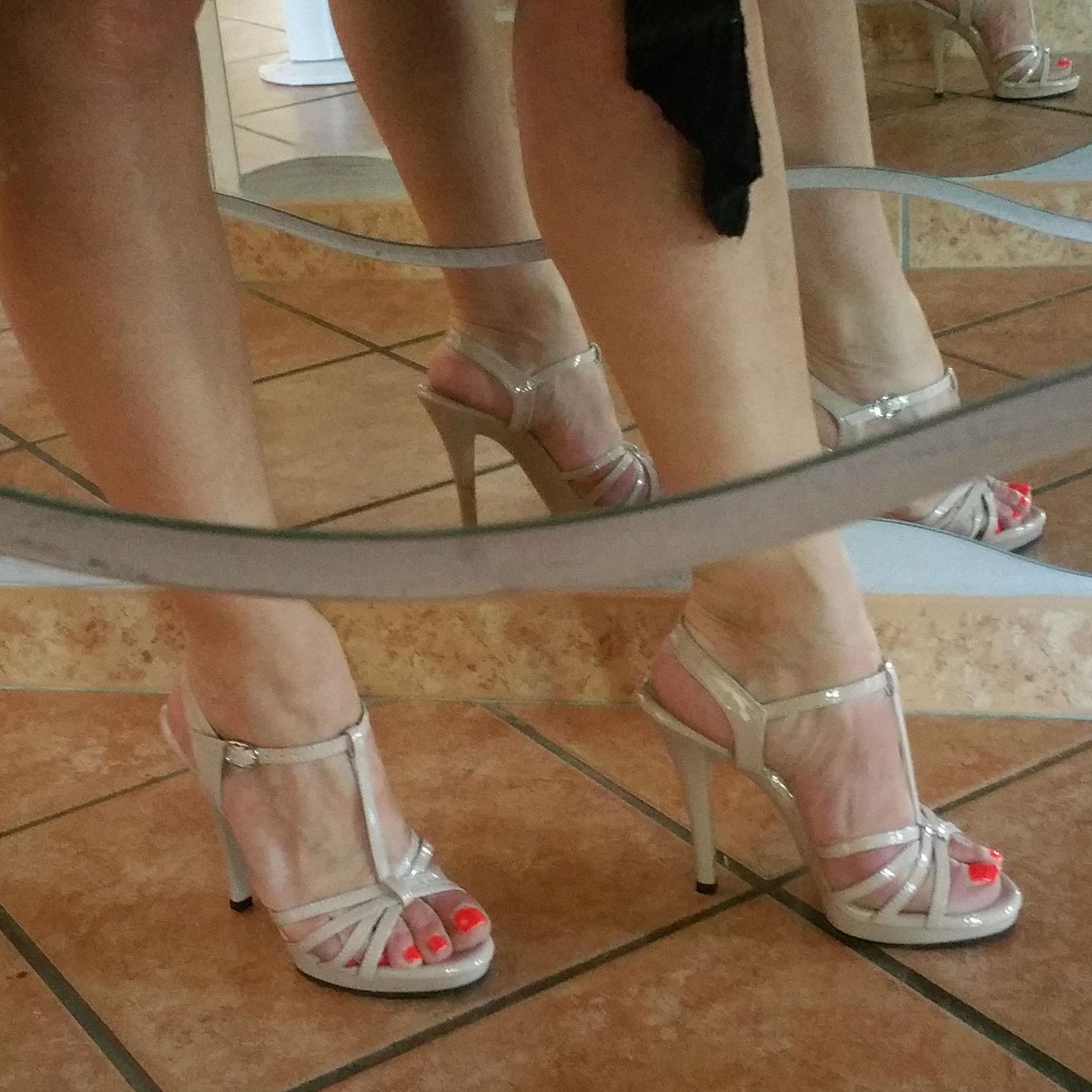 Chaussure caramel à talon