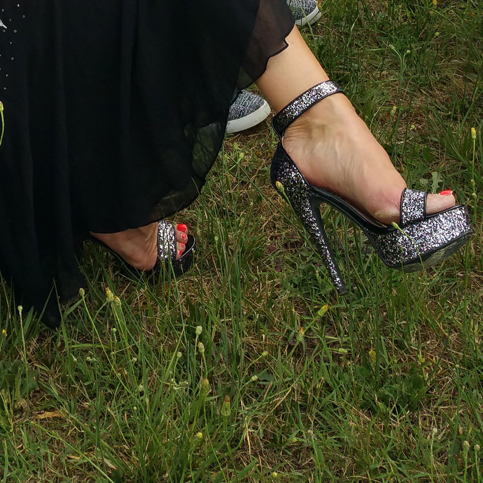 sandale de mariage haut talon paillettes