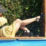 chaussure d'été noires vernies