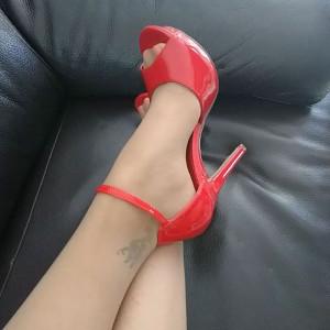sandale rouge lumina