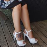 sandale nude elegant