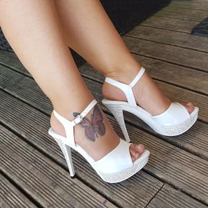sandale blanche soirée dansante