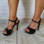 sandale noire cocktail