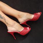 chaussure bordeaux femme fatale