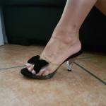chaussure en plastique appretee