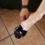 du mal a mettre mes chaussures avec un pied gonfle