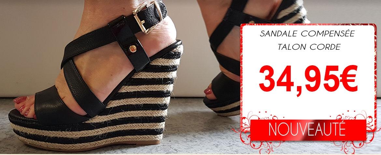 sandale corde compensee