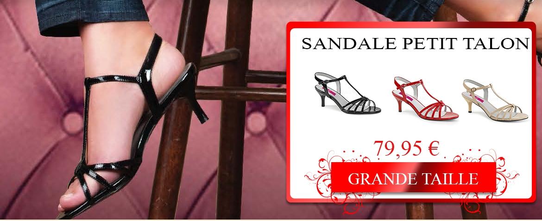 Sandale petit talon grande pointure