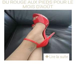 Les sandales de couleur rose