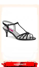 Sandale petit talon noire